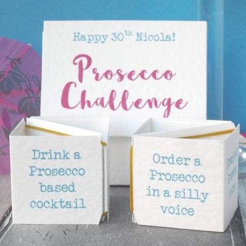 Prosecco Challenge Birthday Card & Game