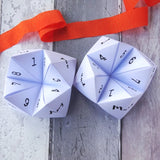 Wedding 'Getting to know everyone' Question Fortune Tellers