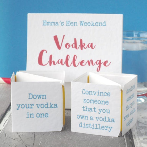 Vodka hen party game by Paperbuzz