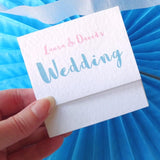 Colourful wedding invite by Paperbuzz