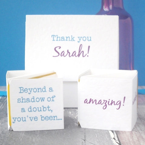 Personalised Thank You Popping Card