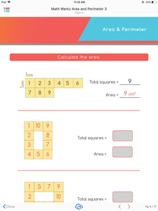 Math Werkz Area and Perimeter 3