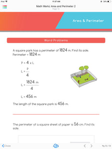 Math Werkz Area and Perimeter 2