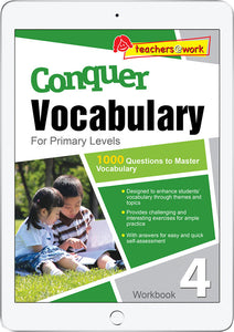 Conquer Vocabulary Primary Levels Workbook 4