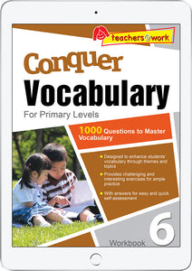 Conquer Vocabulary Primary Levels Workbook 6