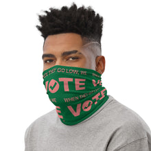 When They Go Low, We Vote® Pink and Green 2 Neck Gaiter