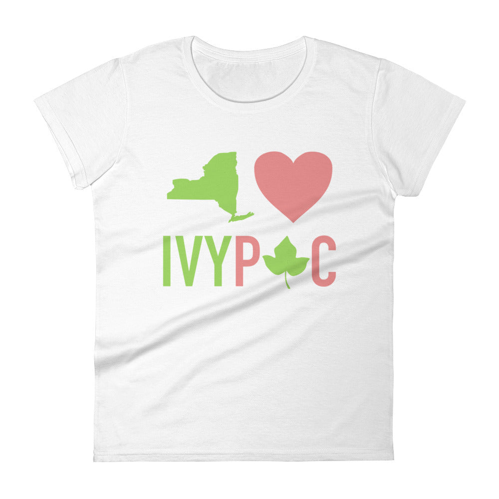 New York 💚 IVYPAC Feminine Cut Short Sleeve T-Shirt