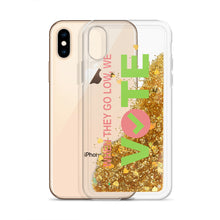 When They Go Low, We Vote™ Liquid Glitter Phone Case