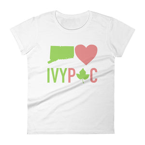Connecticut 💚 IVYPAC Feminine Cut Short Sleeve T-Shirt