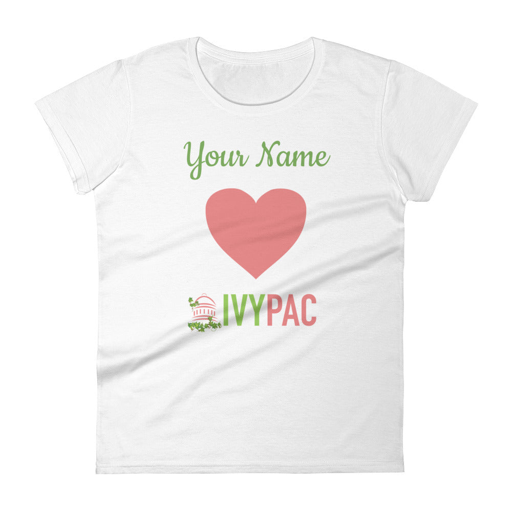 Personalized 💚 IVYPAC Feminine Cut Short Sleeve T-Shirt