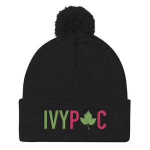 IVYPAC Embroidered Pom Pom Knit Cap