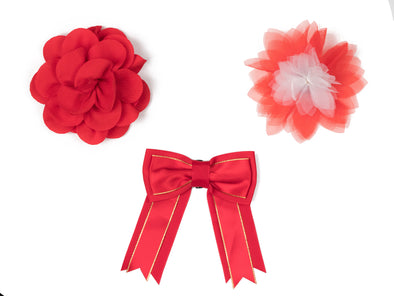 Red Flower & Bow Collection