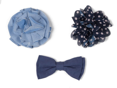Flower/Bow Collection - Blue & Navy