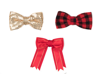 Bow Collection - Gold, Plaid, Red