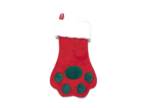Holiday - Red Paw Stocking