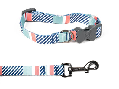 Stripe Soiree - Collar & Leash Set