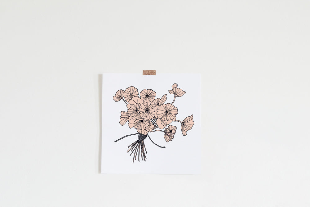 Blush Poppies Art Print