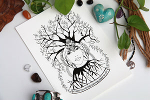 mother-earth-conneciton-earth-healing-art-print-kathy-gardiner-illustration