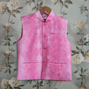 Pink Jacket Kurta Churidar Set