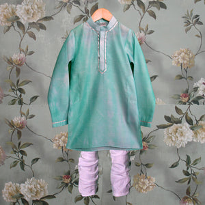 Last Few Pieces - Sea Blue Kurta Churidar set