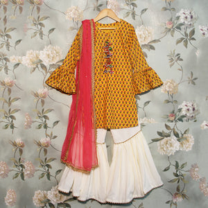 Yellow Kurta Sharara Set