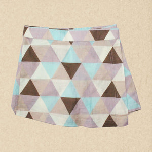 —-SOLD OUT—-Triangle Patterned Skirt-Short