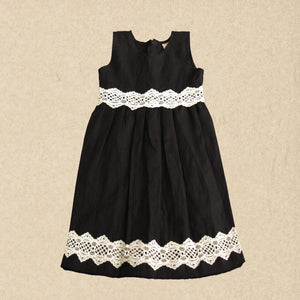 Black Linen Lace Dress