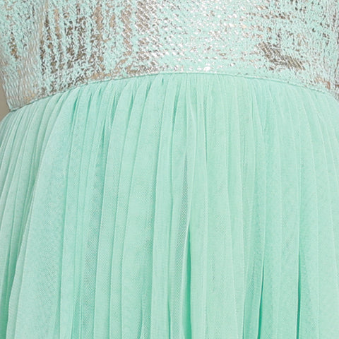 Mint Green Net Dress