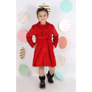 Red Corduroy Trench Coat