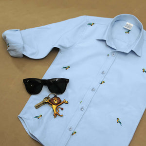 SOLD OUT-Blue Parrot Shirt