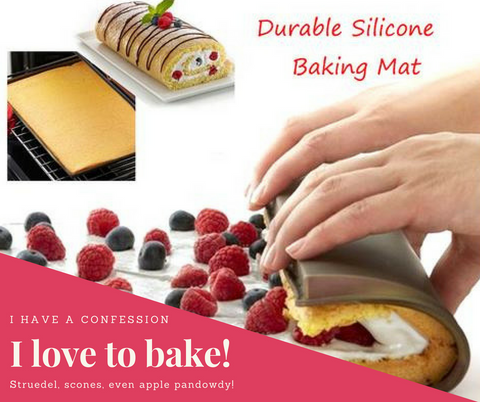 Silicone Oven Mat Cake Roll Rectangle Baking Cake - Market Hoop