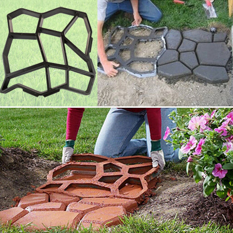 2 Types Plastic Path Maker Mold Paving/Cement Brick Road - Market Hoop