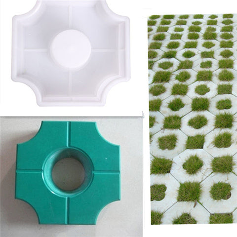 DIY Path Maker Middle Of Hole/ Concrete Plastic Brick Mold Paving Walkway - Market Hoop
