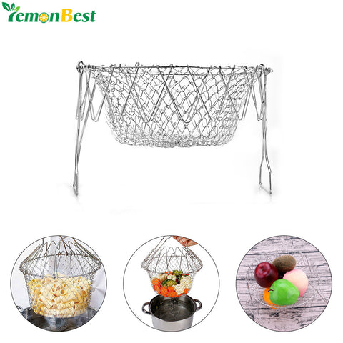 Stainless Steel Expandable Fry Chef Basket Kitchen - Market Hoop
