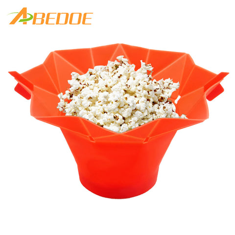 Silicone Popcorn Container DIY Microwave Popcorn Maker Healthy Cooking - Market Hoop