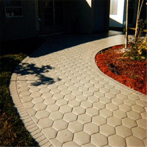 Hexagon Shape Garden Path Concrete Plastic Brick Mold Walkway Stone Pavement - Market Hoop