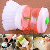 Mini Kitchen Wash Tool Pot Dish Brush with Washing Up Liquid Soap Dispenser - Market Hoop