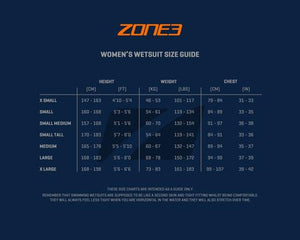 ZONE 3 VISION WOMANS WETSUITE