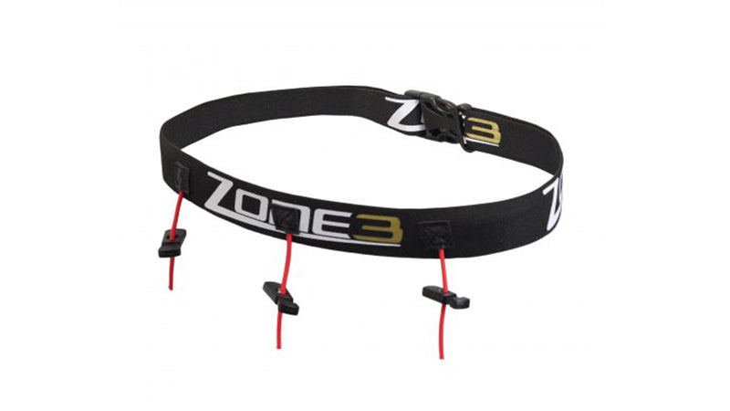 Zone 3 RACE BELT WITH GEL LOOPS – BLACK