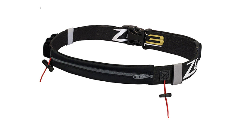 Zone 3 RACE BELT WITH LYCRA POUCH – BLACK