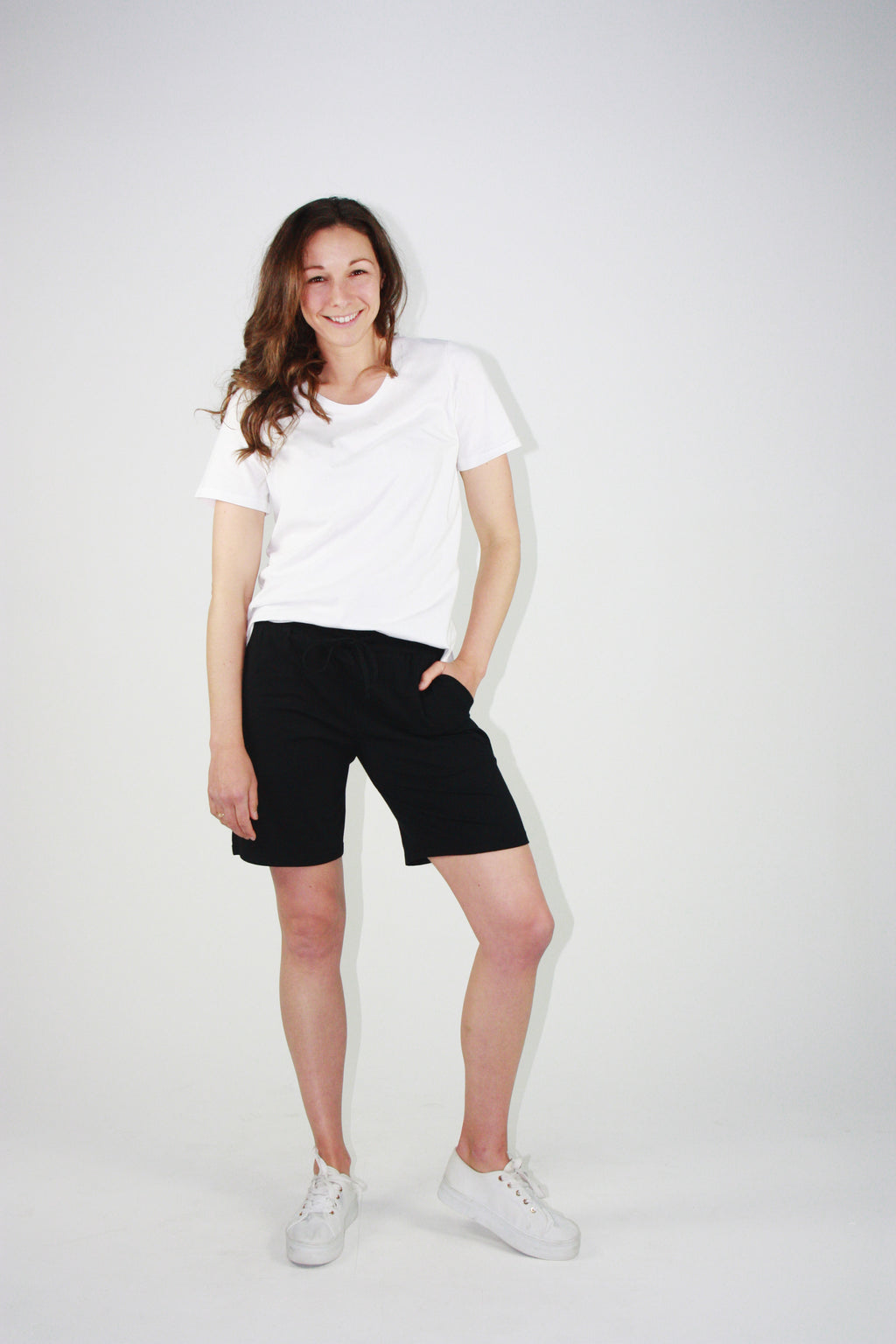Everyday Drawstring Shorts Black