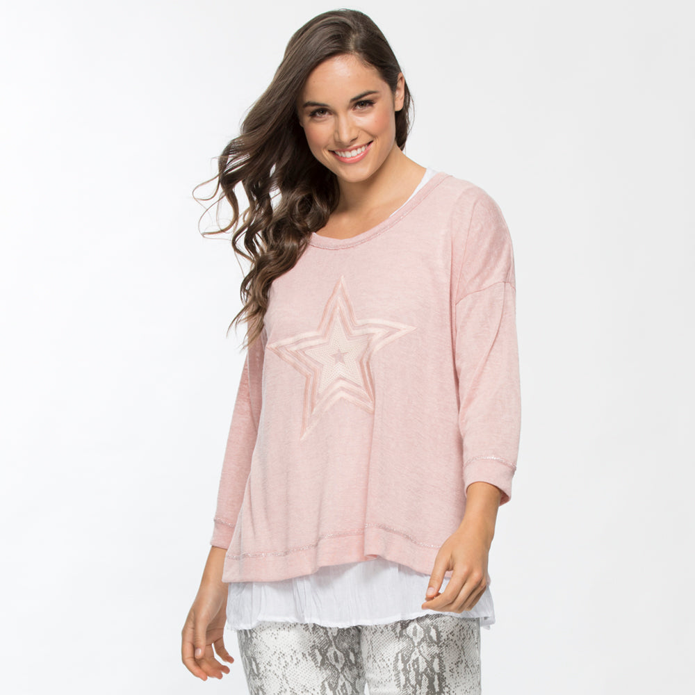 Threadz Pink Star 2/1 Top