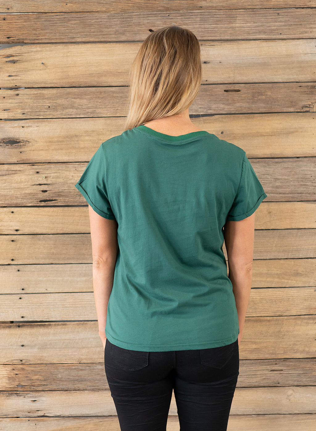 Saffy Tee - Forest Green