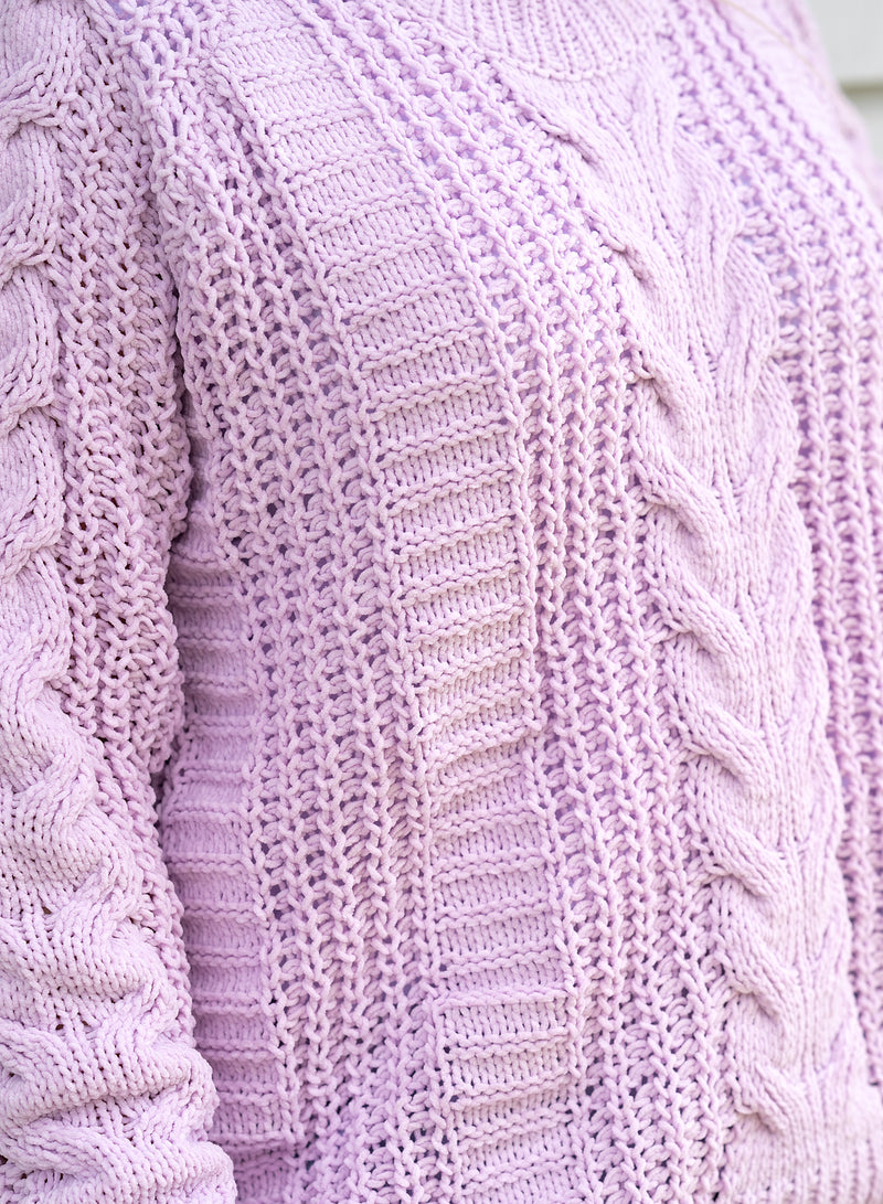 Nora Cable Knit - Lilac