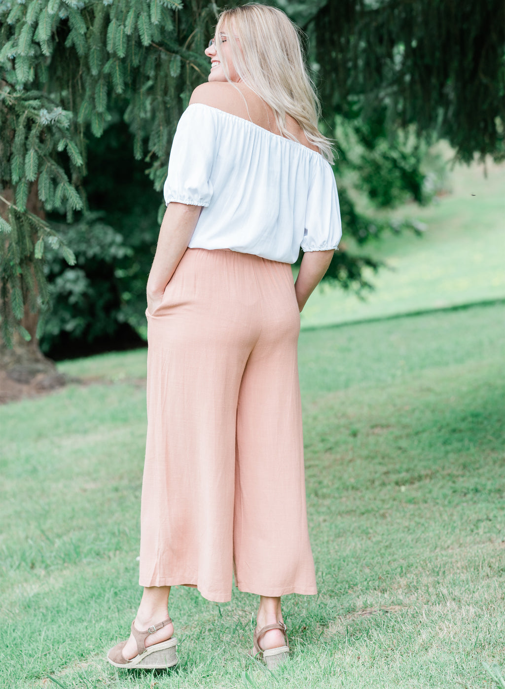 Maria Wide Leg Pants Clay