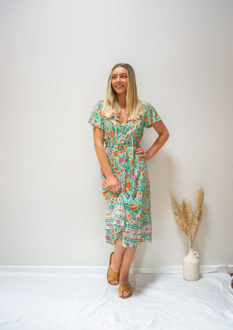 Libby Dress Green