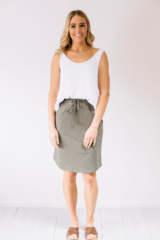 Hailey Satin Skirt