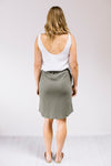 Everyday Drawstring Skirt Khaki