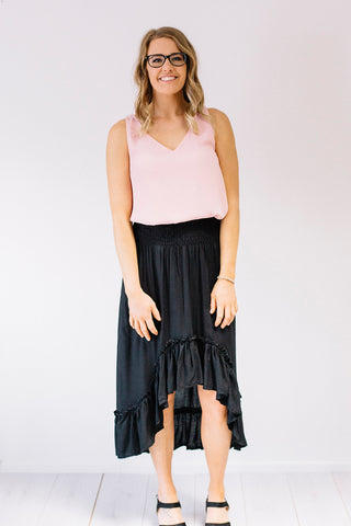 Everyday Drawstring Skirt Black