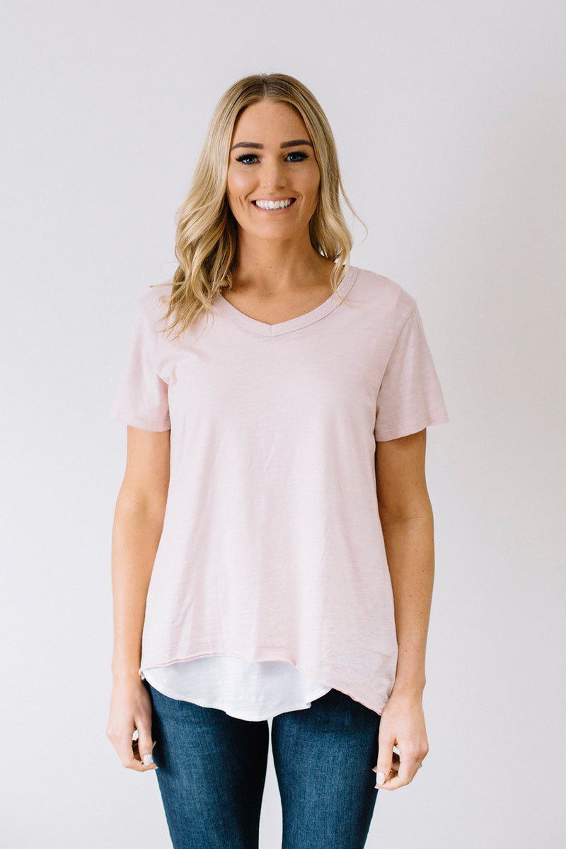 Thornton Tee - Blush Marle